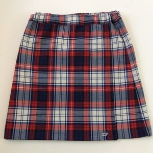 Vineyard Vines Youth 16 Plaid Skirt Red Navy